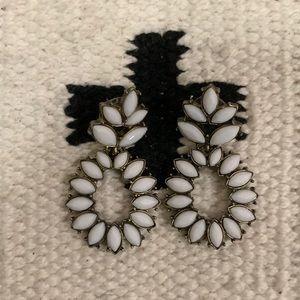Baublebar white resin earrings